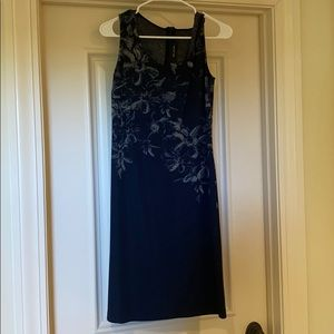 St. John blue dress